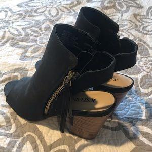 Just Fab black booties